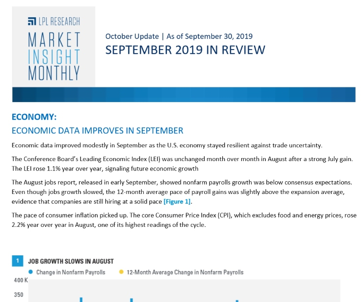 Market Insight Monthly | September 2019